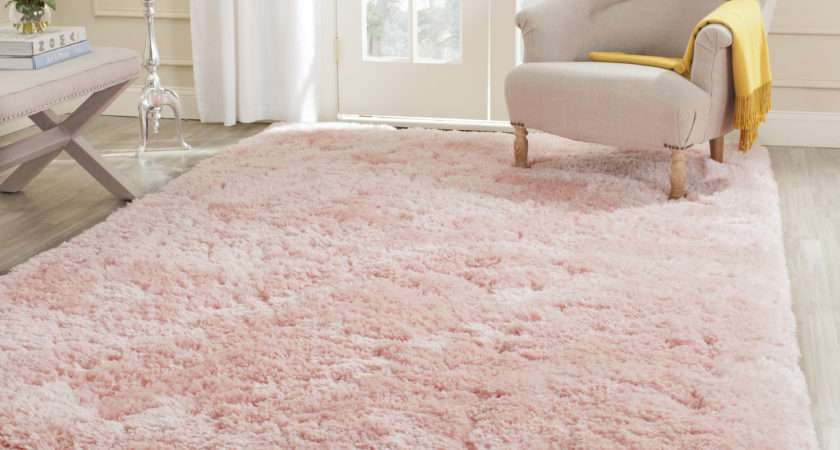 Safavieh Hand Tufted Pink Polyster Shag Area Rugs