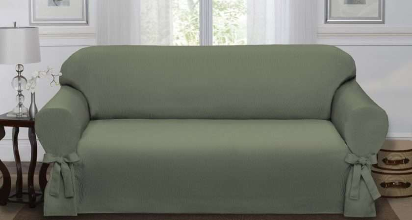 Sage Green Loden Lucerne Sofa Slipcover Couch Cover