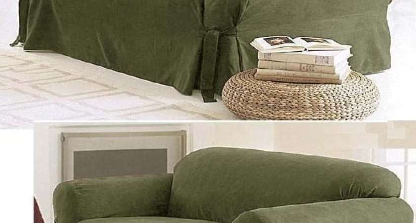 Sage Green Micro Suede Couch Sofa Loveseat Slip Cover