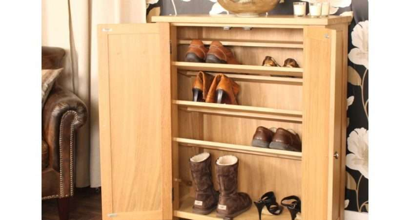 Salisbury Oak Home Furniture Hallway Shoe Storage Cabinet