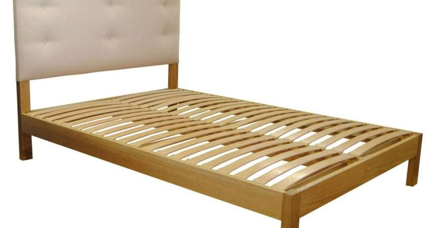 Sanderson Small Double Solid Oak Bed Integrated