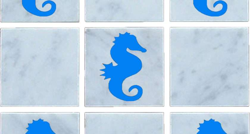 Seahorse Vinyl Wall Tile Stickers Decal Transfers