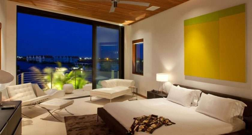 Secluded Island Home Design Comfy Bedroom Nice Balcony