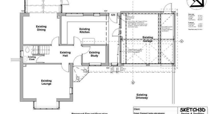Second Storey House Extension Design Proposed Ground Floor Plan