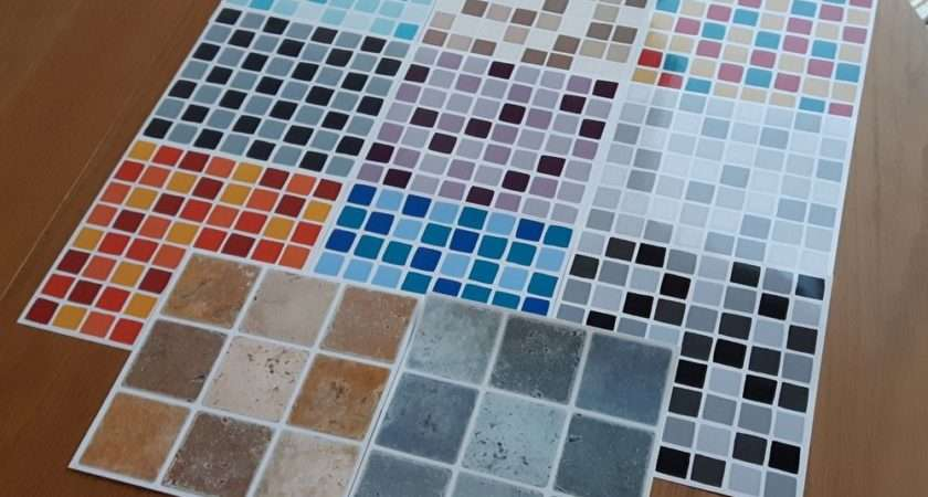 Self Adhesive Mosaic Tile Transfers Stickers Bathroom Kitchen