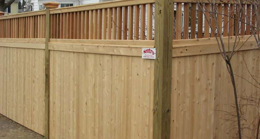 Sentry Fence Styles Residential Wood Fencing