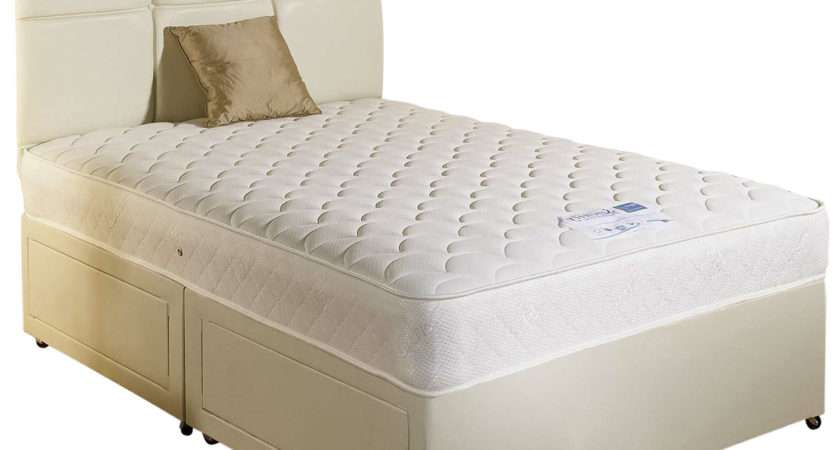 Serene White Faux Leather Small Double Divan Bed Set