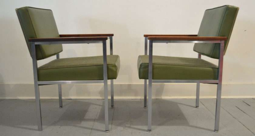 Set Two Vintage Mid Century Office Chairs Galaxiemodern