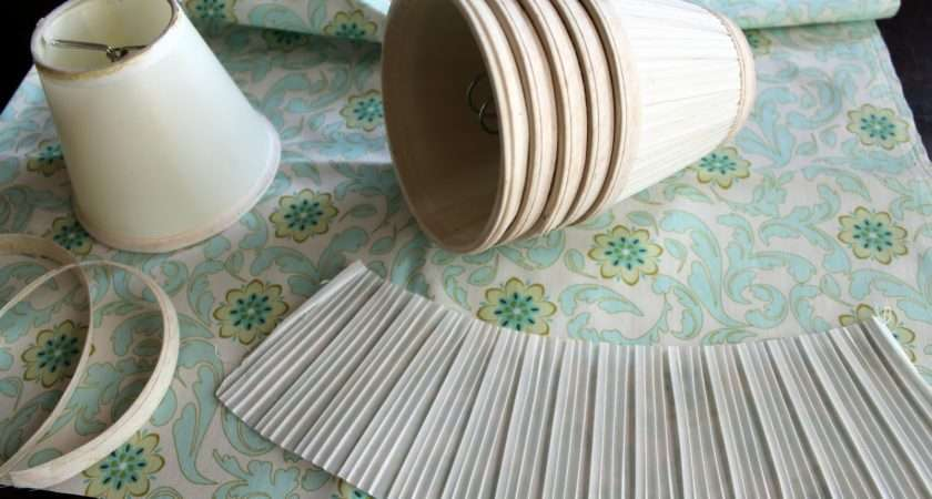 Sew Recover Lamp Shade Chandalier Fabric