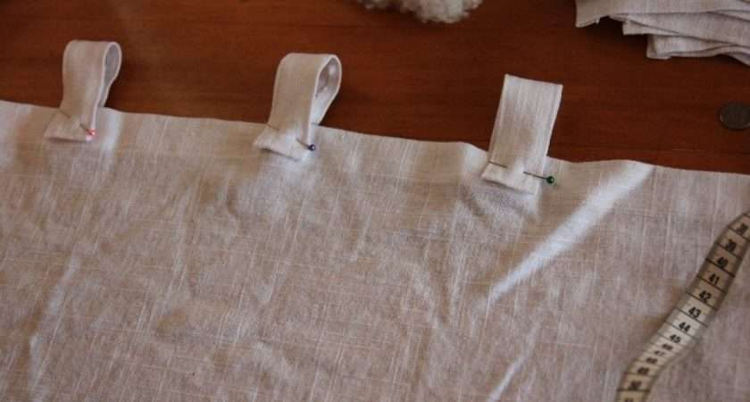 Sew Tab Top Linen Curtains Stripes