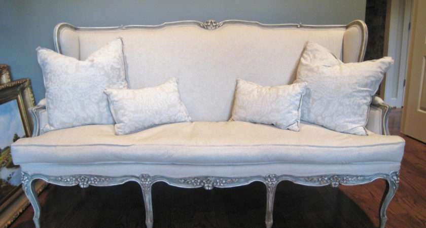 Shabby Chic Antique Louis French Style Sofa Shurlydesigns
