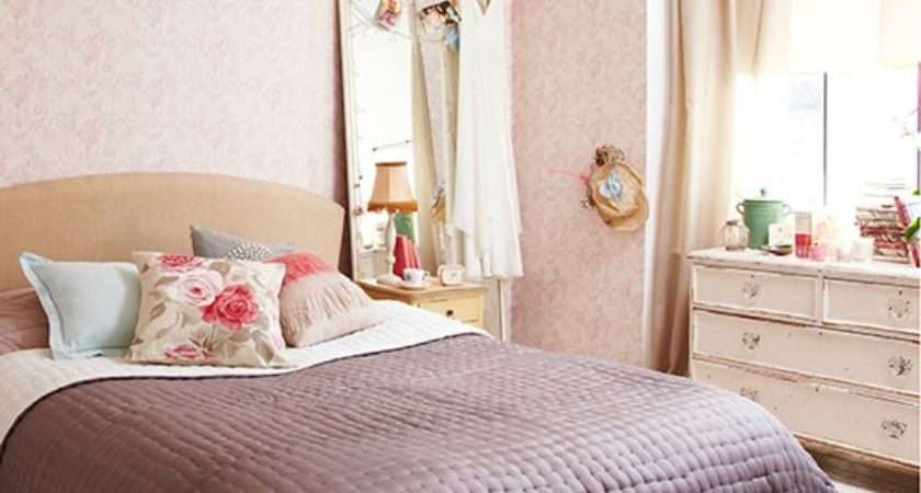 Shabby Chic Bedroom Pink Floral Country