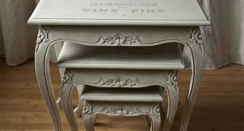 Shabby Chic French Style Nest Tables Touch Wood