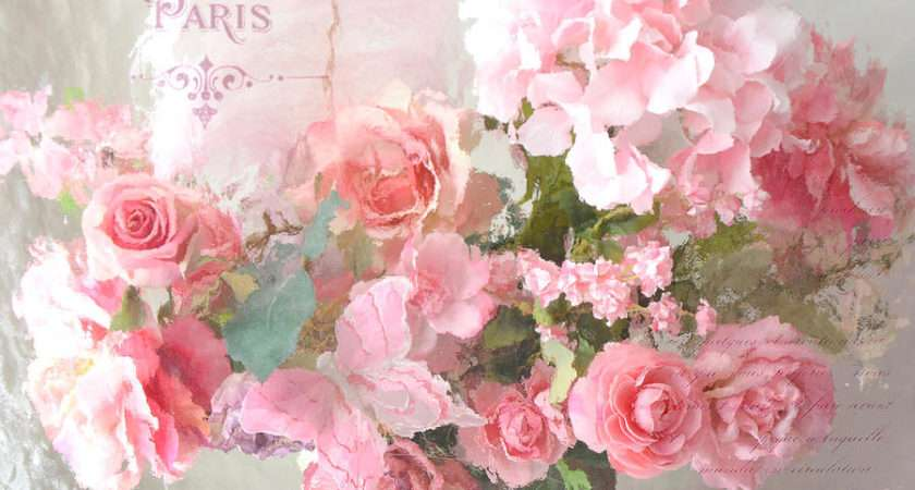 Shabby Chic Photography Photograph Paris Dreamy Pink
