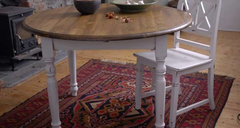 Shabby Chic Round Dining Table Chairs