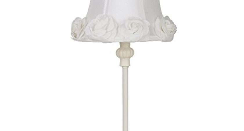 Shabby Chic Table Lamp Rose Trim Vintage Style
