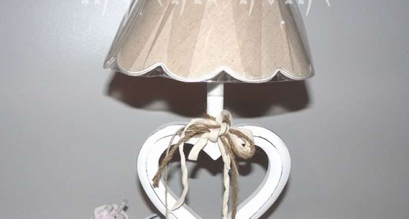 Shabby Chic Table Lamps Bedroom Heart Lights