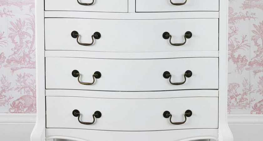 Shabby Chic White Drawer Chest Bedroom Furniture Direct