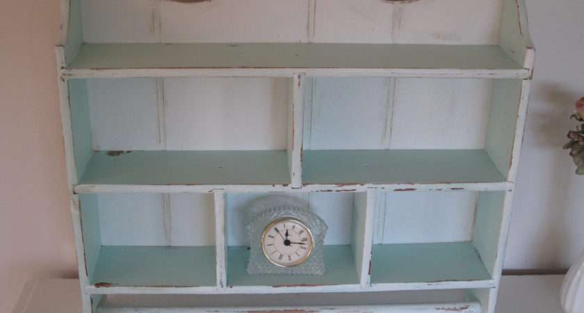 Shabby Cottage Chic Rustic Wall Cabinet Aqua Spinyourdream