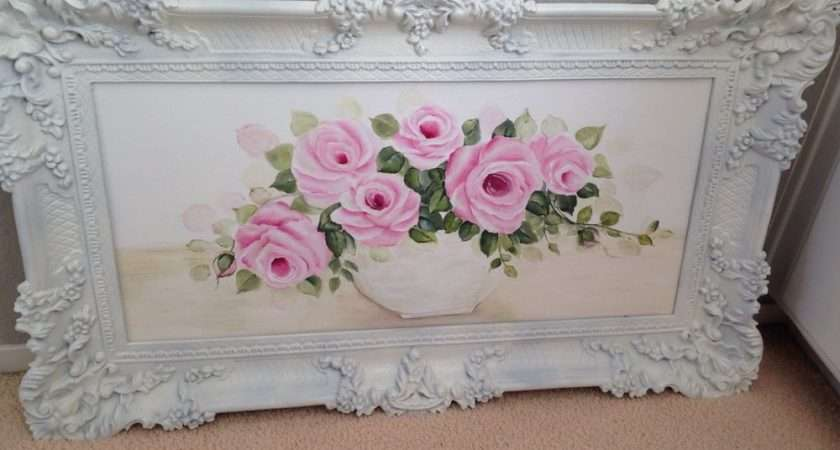 Shabby Hand Painted Wall Canvas Chic