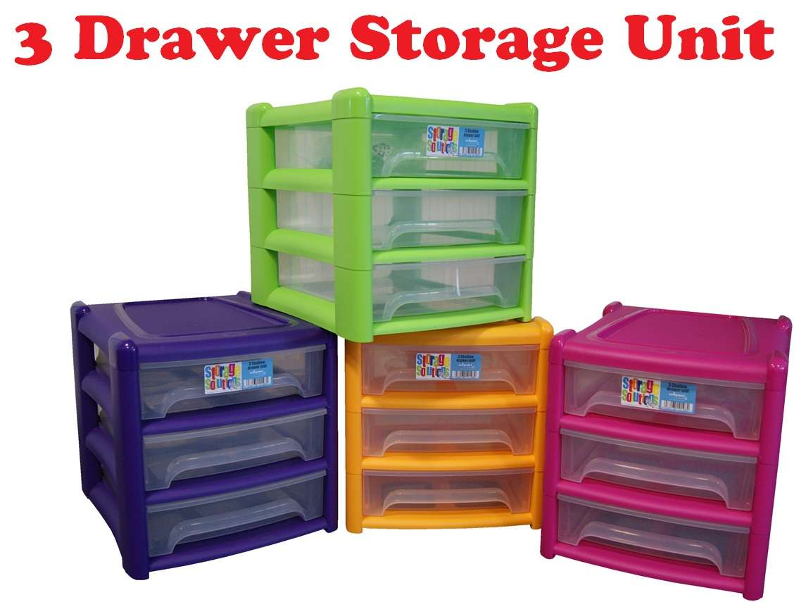 Shallow Drawer Plastic Storage Unit Shelf Office Bedroom Home