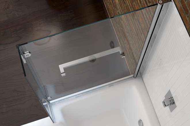 Shaped Shower Bath Inc Bathtub Screen Side Panel