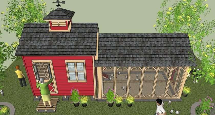 Shed Plans Chicken Coop Storage Construction