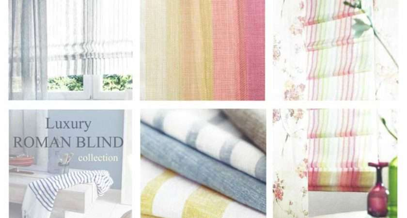 Sheer Voile Roman Blinds Custom Made Measure Fit Your Windows