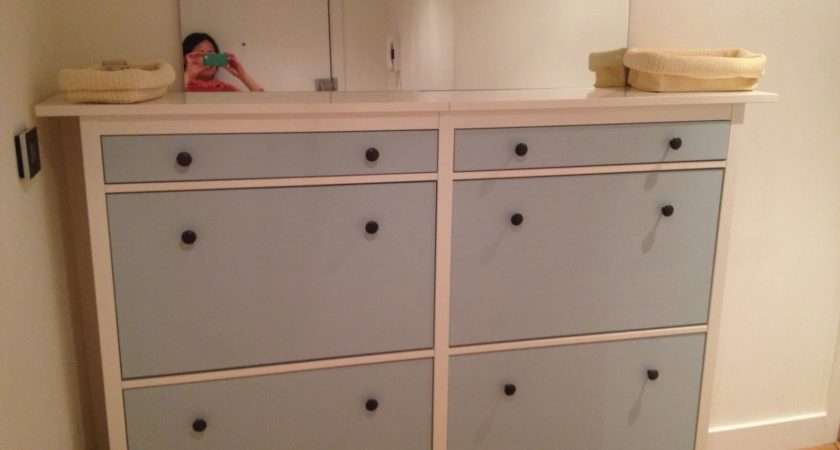 Shoe Cabinets Twined Painted Ikea Hackers