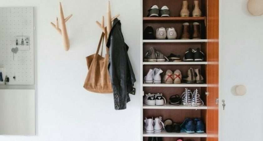 Shoe Storage Ideas Most Simple Ergonomic Hallway