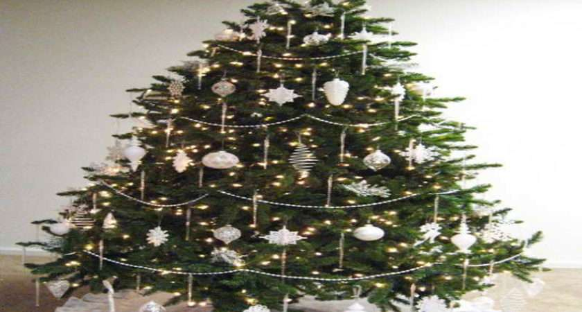 Silver Christmas Tree Decorations Your Modern Home Decor Ideas