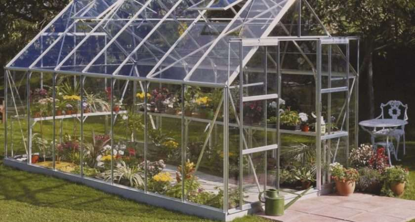 Silver Frame Horticultural Glass Double Door Greenhouse Base
