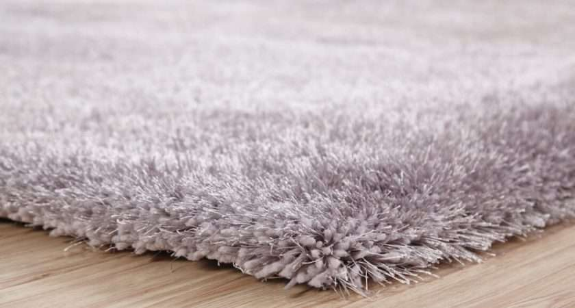 Silver Grey Thick Shaggy Rug Small Extra Large