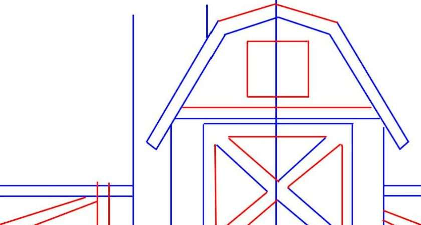 Simple Barns Coloring Pages