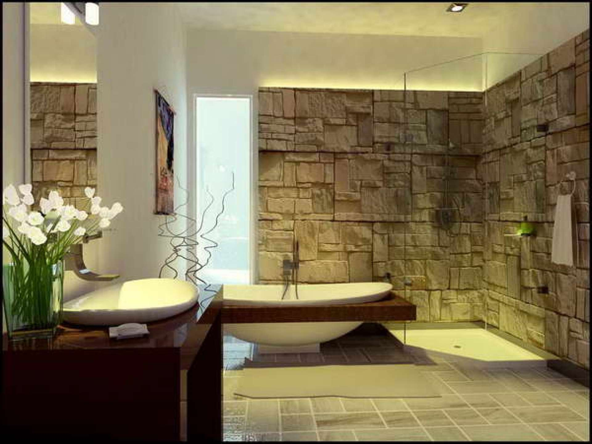 Simple Bathroom Wall Decor Design Ideas
