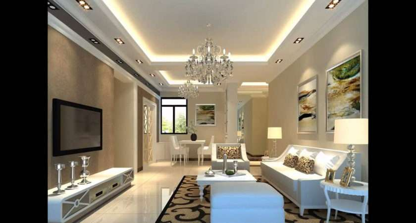 Simple Latest Pop Ceiling Designs Living Room Home Combo