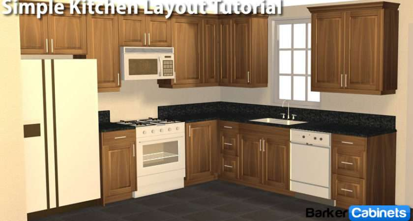 Simple Shaped Kitchen Layout