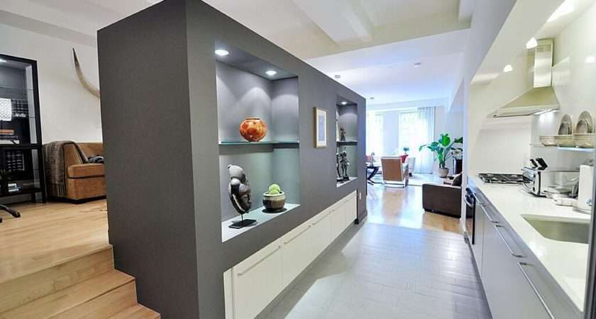 Single Line Kitchen Constructed Wall Creates More Storage Source
