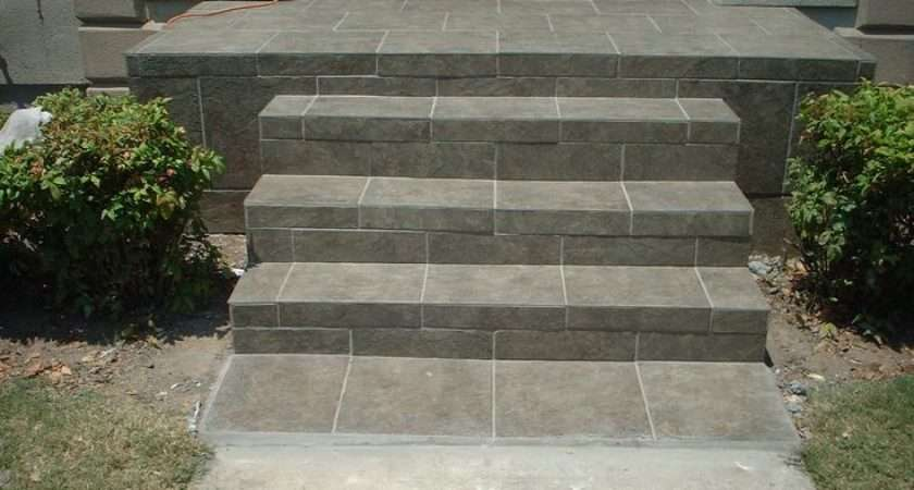 Slate Tile Front Porch Steps Small Porches