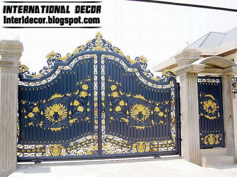 Sliding Iron Gate Design Outdoor Gates Modern Houses