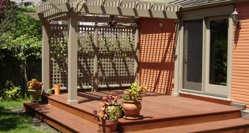 Small Backyard Wood Decks Landscaping Gardening Ideas