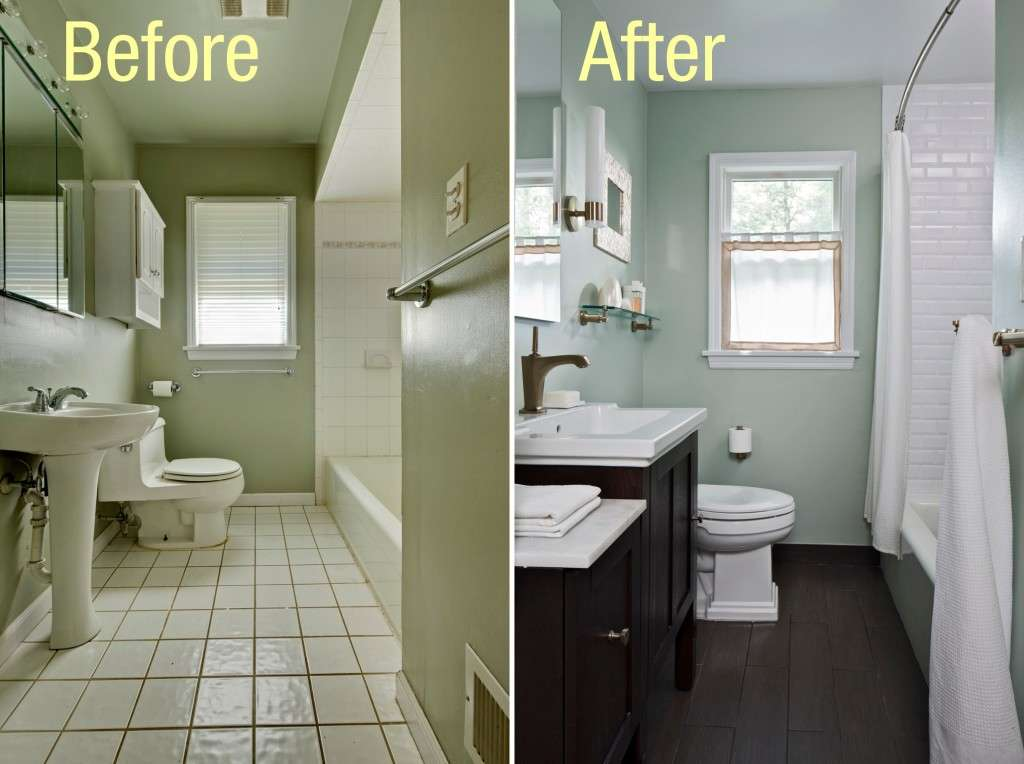 Small Bathroom Makeover Before After Jpeg