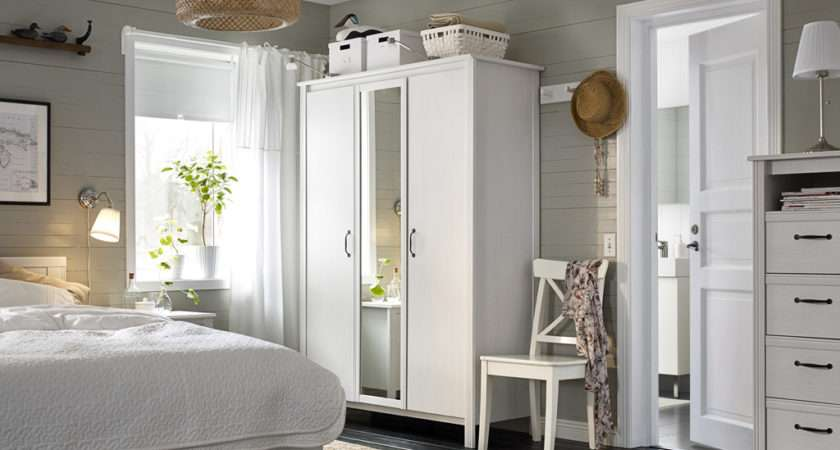 Small Bedroom Furnished Wardrobe Two White Doors One