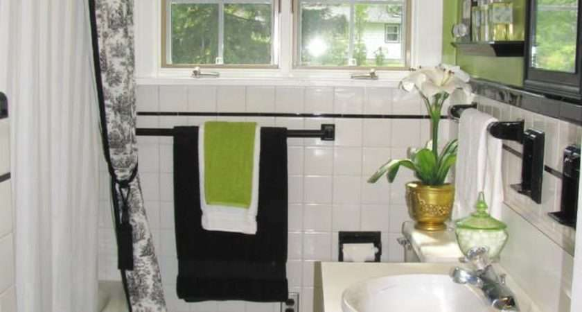Small Black White Bathroom Tiles Ideas