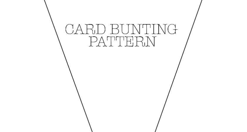 Small Bunting Template Tonibest