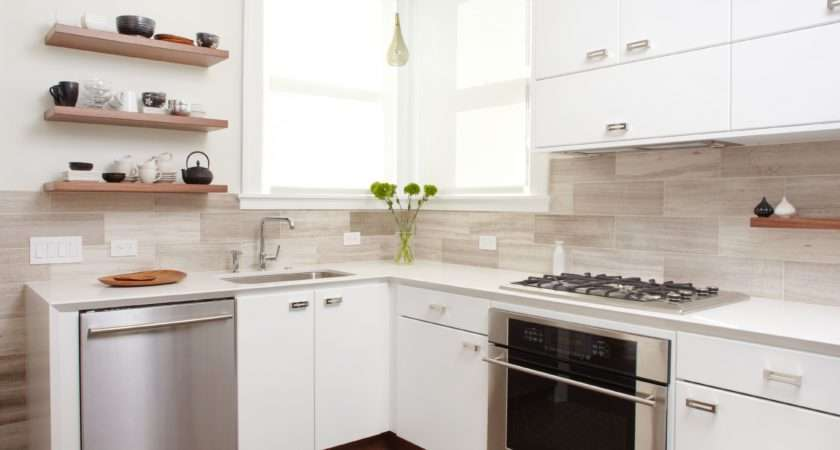 Small Modern Kitchen White Home Designs Project