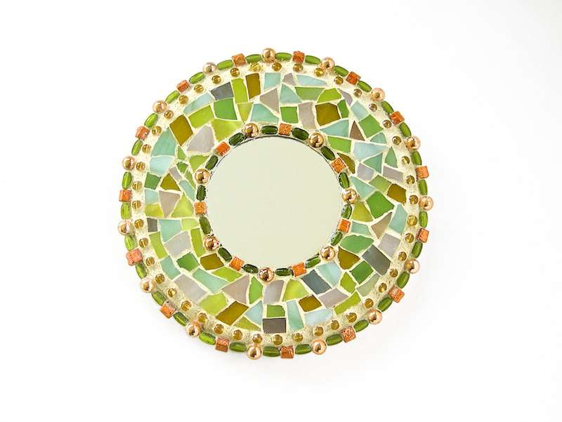 Small Mosaic Mirror Feng Shui Decorative Peggytrue