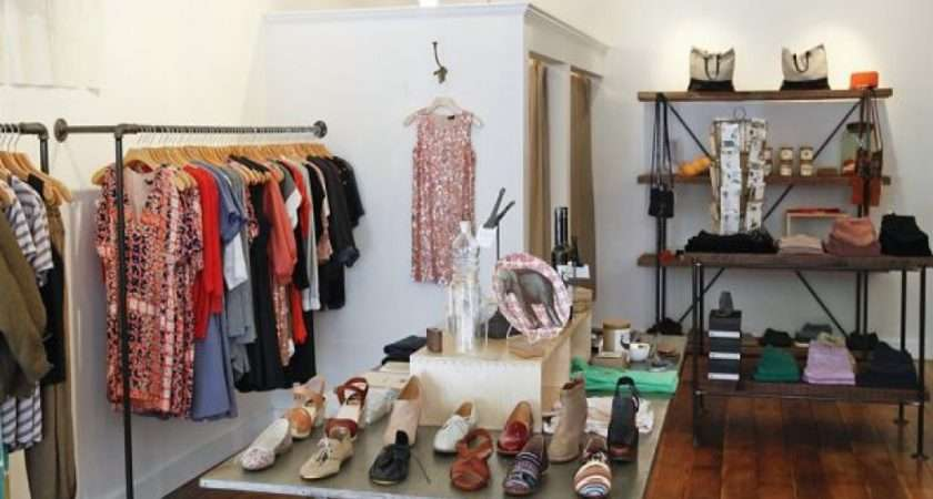 Small Studio Lights Clothing Boutique Interior
