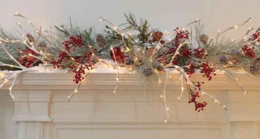 Snowy Flocked Lighted Christmas Willow Branch Fgm Ebay