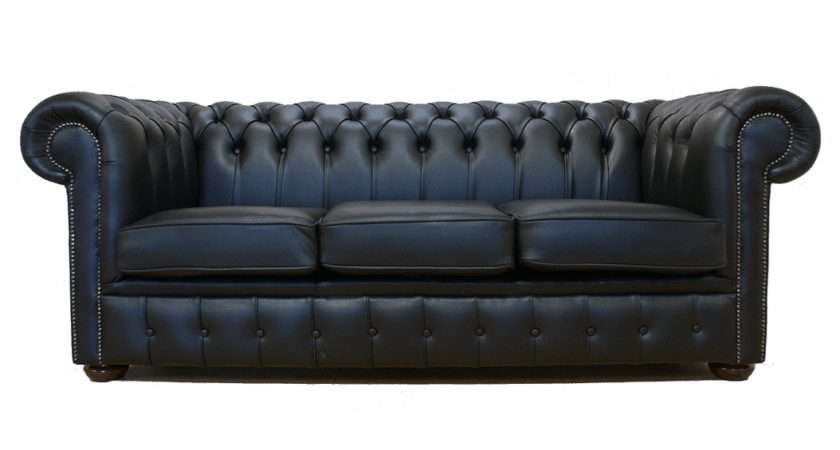 Sofa Tufted Leather Chesterfield White